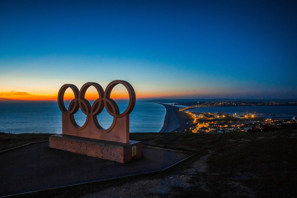 Olympic ring statue